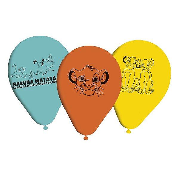 Balão Festa Rei Leão - 25 Unidades - Regina - Rizzo Festas