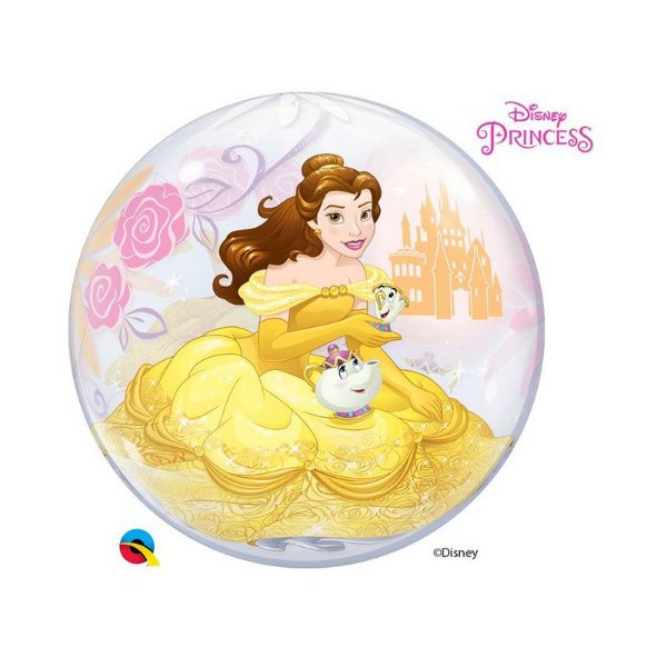 """Balão de Festa Bubble 22"""" 56cm - Princesa Bela - 01 Unidade - Qualatex Disney - Rizzo Balões"""