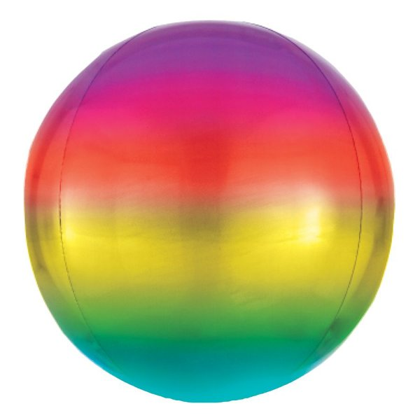 Balão de Festa Bubble - Metal Degradê Colorido - 01 Unidade - Cromus - Rizzo Embalagens