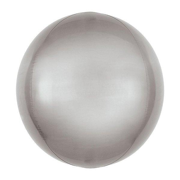 Balão de Festa Bubble - Metal Prata - 01 Unidade - Cromus - Rizzo Embalagens