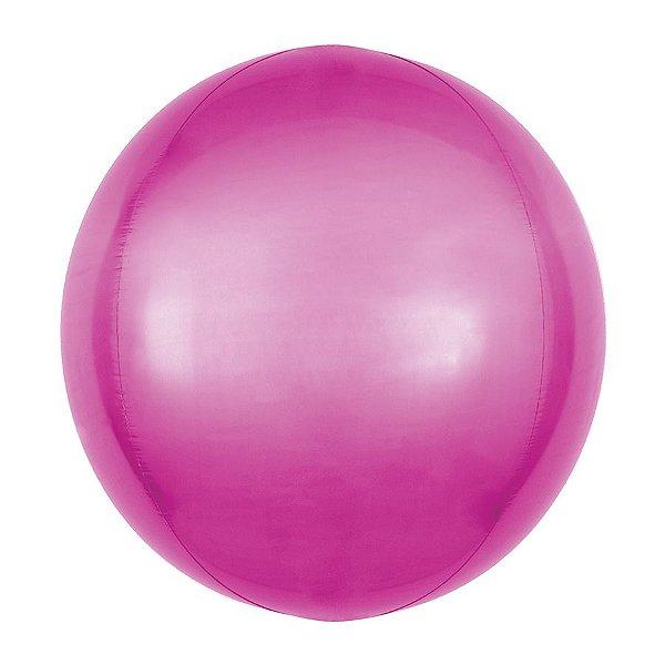 Balão de Festa Bubble - Metal Rosa Pink - 01 Unidade - Cromus - Rizzo Embalagens