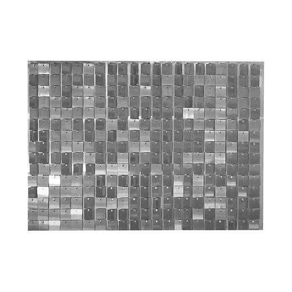 Painel Mágico Shimmer Wall - 87cm x 62,5cm - Prata - Cromus - Rizzo Embalagens