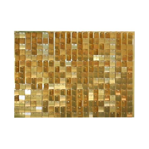 Painel Mágico Shimmer Wall - 87cm x 62,5cm - Ouro - Cromus - Rizzo Embalagens