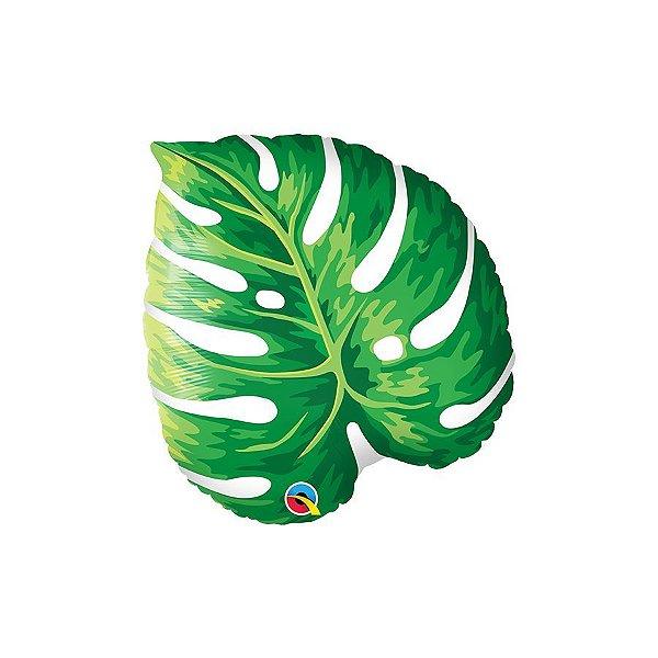 """Balão de Festa Microfoil 21"""" 53cm - Folha Tropical - 01 Unidade - Qualatex - Rizzo Balões"""