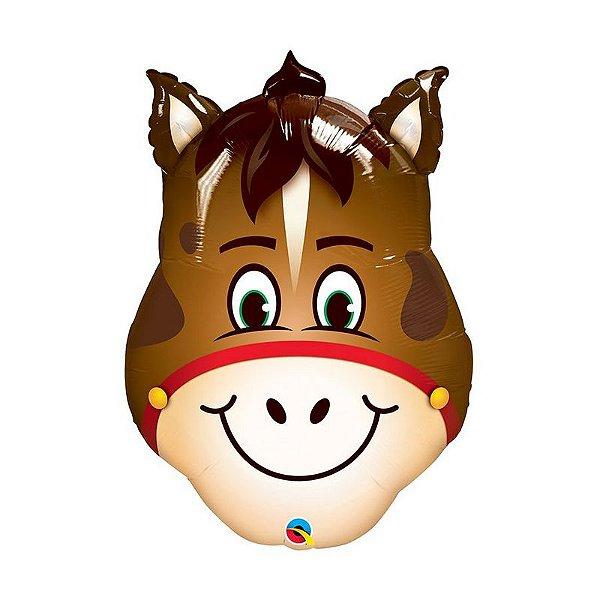 """Balão de Festa Microfoil 32"""" 81cm - Cavalo - 01 Unidade - Qualatex - Rizzo Embalagens"""