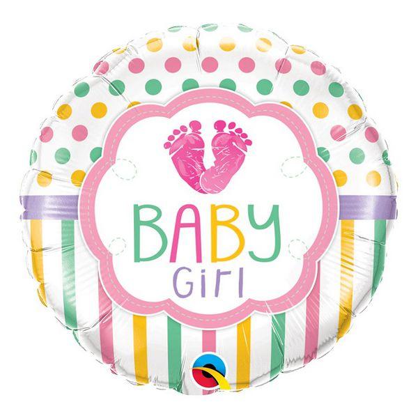 """Balão de Festa Microfoil 18"""" 45cm - Baby Girl Love - 01 Unidade - Qualatex - Rizzo Embalagens"""