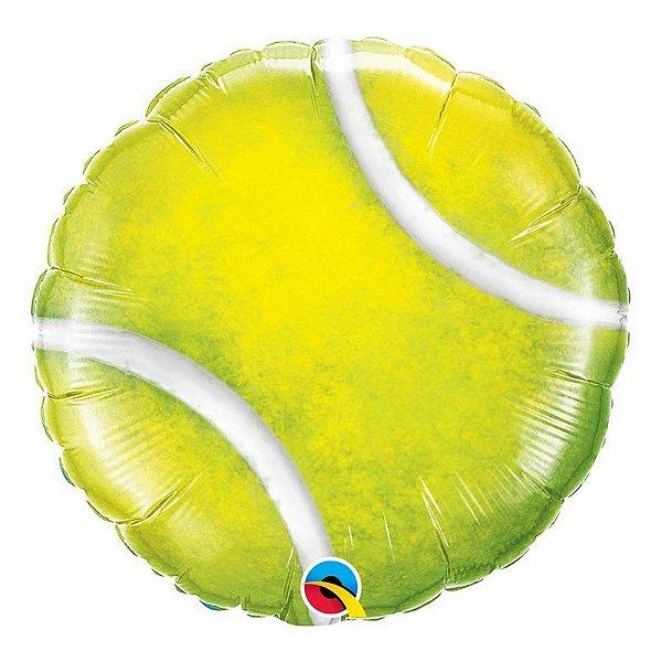 """Balão de Festa Microfoil 18"""" 45cm - Bola de Tênis - 01 Unidade - Qualatex - Rizzo Embalagens"""
