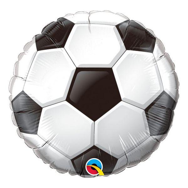 """Balão de Festa Microfoil 18"""" 45cm - Redondo Bola de Futebol - 01 Unidade - Qualatex - Rizzo Embalagens"""
