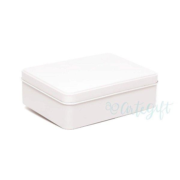 Lata Retangular para Lembrancinha Branca - 12x9x4cm - 06 unidades - Artegift - Rizzo Embalagens