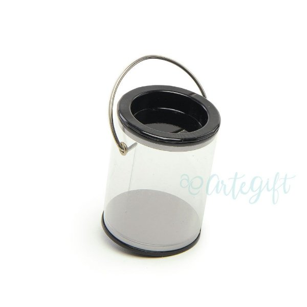 Mini Lata Tinta Preta - 4x7cm - 06 unidades - Artegift - Rizzo Embalagens