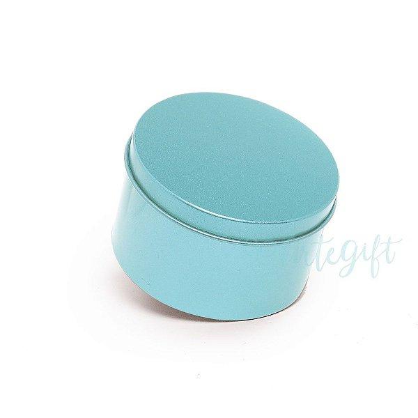Lata Redonda para Lembrancinha Tiffany - 10x4cm - 01 unidade - Artegift - Rizzo Embalagens