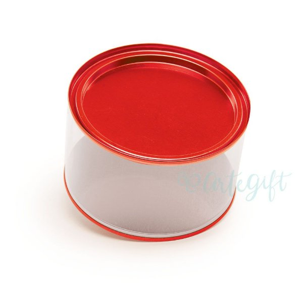 Lata Cookies Vermelha - 12,7x7,5cm - 01 unidade - ArtGift - Rizzo Embalagens
