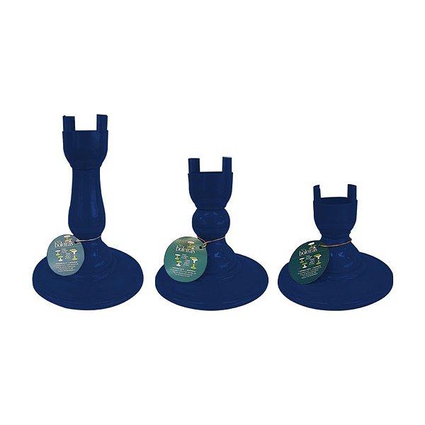 Base Pé Boleira - Azul Marinho - Só Boleiras - Rizzo Embalagens