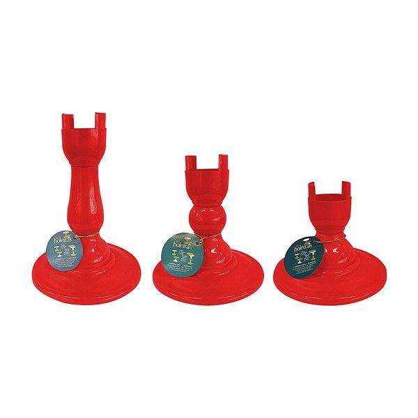 Base Pé Boleira - Vermelho - Só Boleiras - Rizzo Embalagens