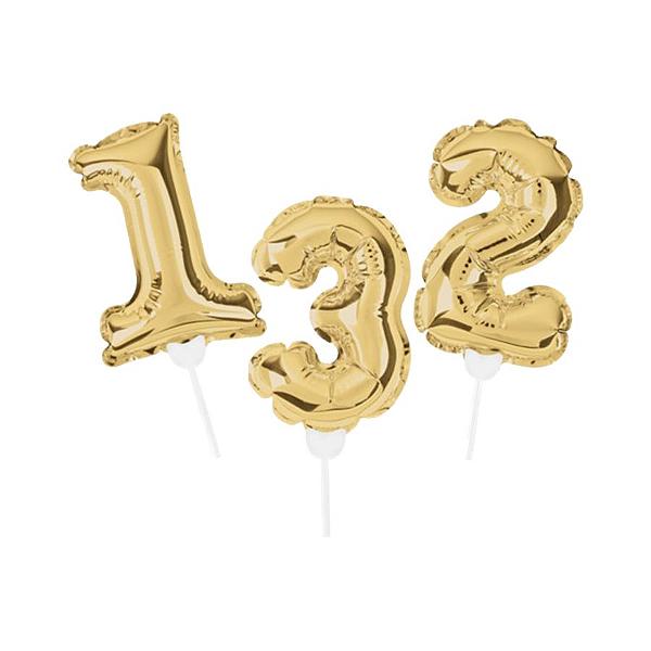 Topo de Bolo de Balão Auto Inflável - Ouro - Cromus - Rizzo Embalagens