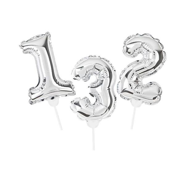 Topo de Bolo de Balão Auto Inflável - Prata - Cromus - Rizzo Embalagens
