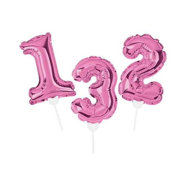 Topo de Bolo de Balão Auto Inflável - Rosa - Cromus - Rizzo Embalagens