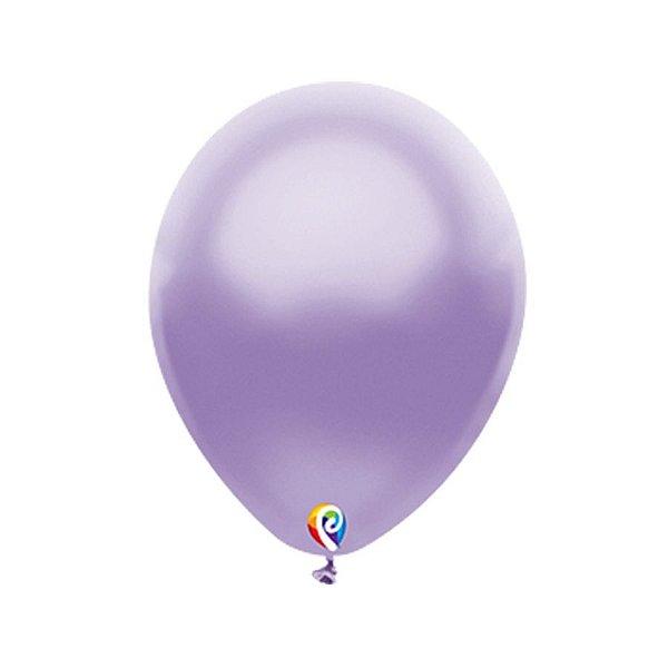 Balão de Festa Látex - Lilas Cintilante - Sensacional - Rizzo Embalagens