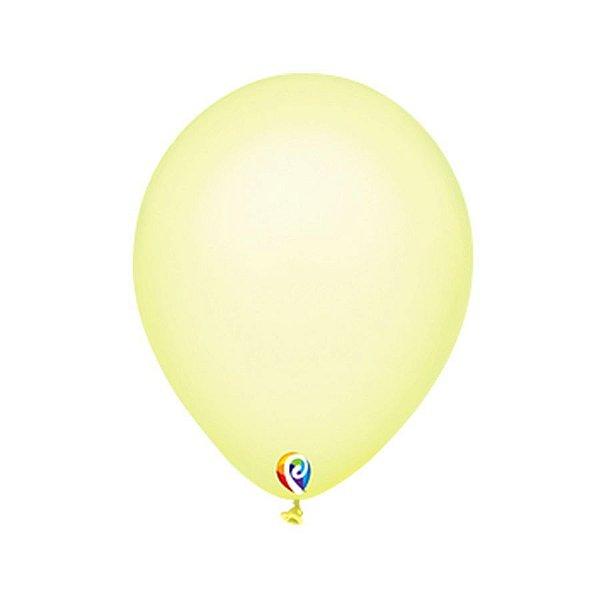 Balão de Festa Látex - Amarelo Neon - Sensacional - Rizzo Embalagens
