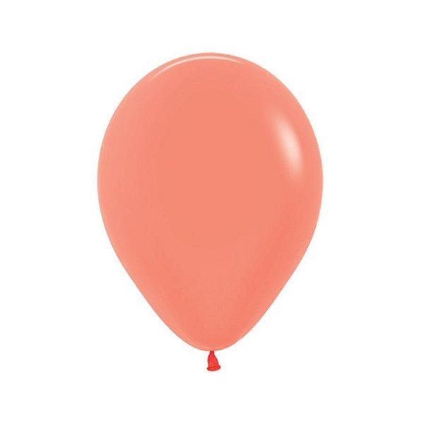 Balão de Festa Látex Neon - Coral - Sempertex Cromus - Rizzo Balões