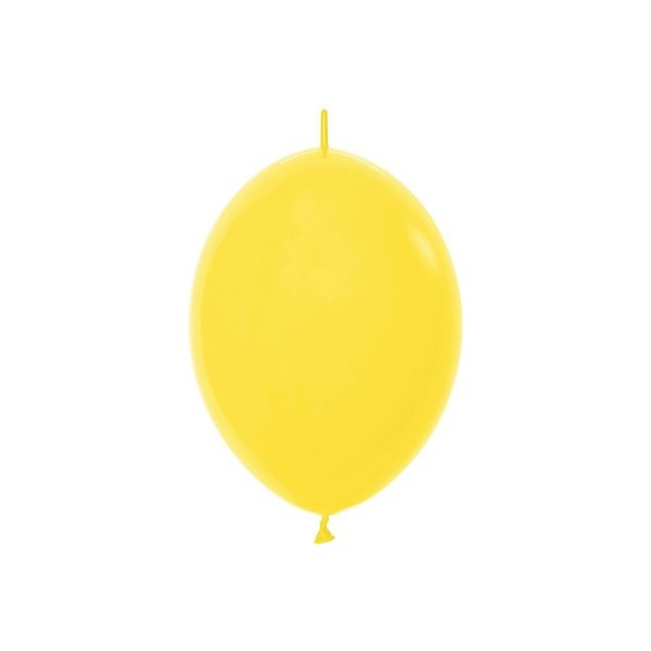 "Balão de Festa Link-o-Loon 12"" 28cm - Amarelo - 50 Unidades - Sempertex - Rizzo Embalagens"