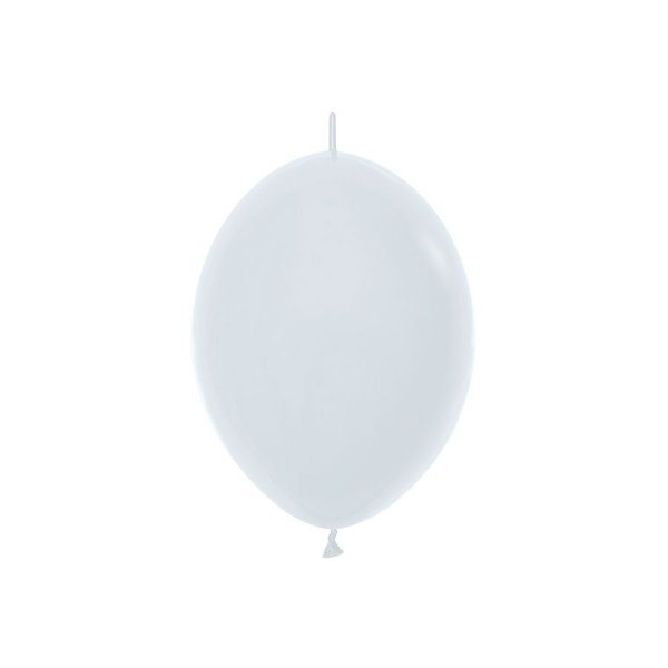 "Balão de Festa Link-o-Loon 12"" 28cm - Branco - 50 Unidades - Sempertex - Rizzo Embalagens"