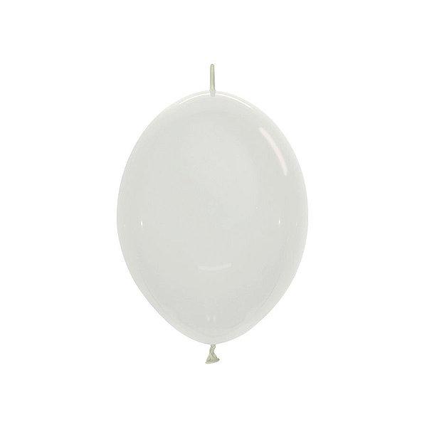 "Balão de Festa Link-o-Loon 12"" 28cm - Cristal - 50 Unidades - Sempertex - Rizzo Embalagens"
