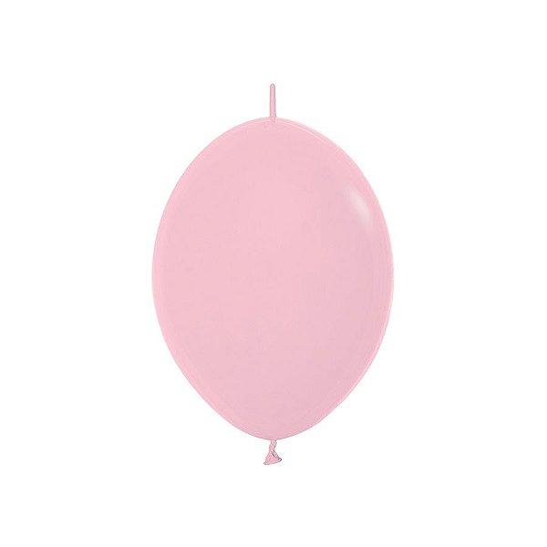 """Balão de Festa Link-o-Loon 12"""" 28cm - Rosa - 50 Unidades - Sempertex - Rizzo Embalagens"""