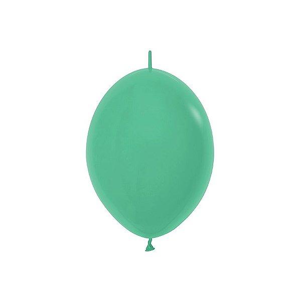 """Balão de Festa Link-o-Loon 12"""" 28cm - Verde - Sempertex - Rizzo Embalagens"""