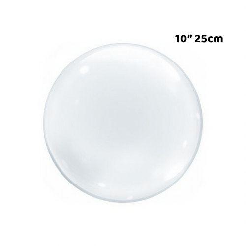 """Balão Bubble Transparente - 10"""" 25cm - 01 Unidade - Bobo Balloon - Rizzo Embalagens"""