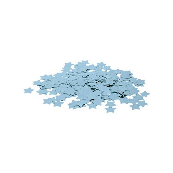 Confete Metálico Estrela para Balão Pacote com 100g 2cm - Azul Claro - 01 Unidade - Cromus Balloons - Rizzo Embalagens