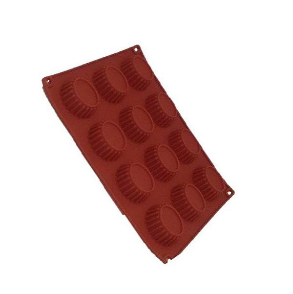Forma de Silicone Pequena Oval ArtLille Rizzo Confeitaria