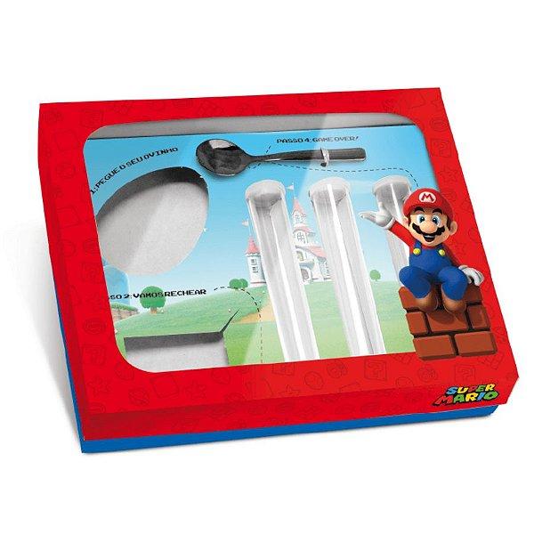 Kit Confeiteiro Páscoa Super Mario 150g - 24x19,5x5cm - 01 unidade - Cromus Páscoa - Rizzo Embalagens