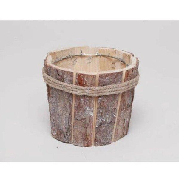 Cachepot de Madeira Rústica e Cordas - 10 x 15 cm - Cromus Páscoa- Rizzo Embalagens