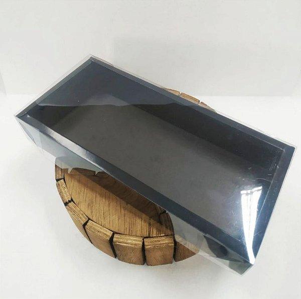 Caixa de PVC N°14 para Barra 1Kg - Preto - 10,5x25,7x5cm - 05 unidades - ASSK - Rizzo Embalagens