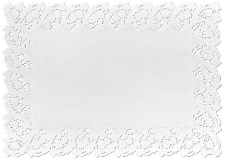 Toalha De Papel Rendada Modelo 4531 - 06 Unidades - Mago - Rizzo Embalagens