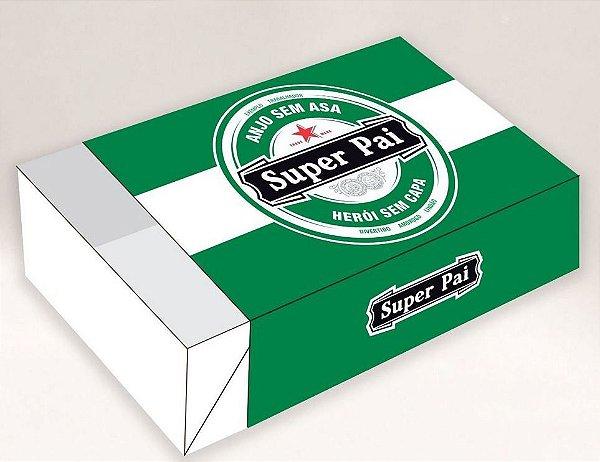 Caixa Divertida para 6 doces - Rótulo Super Pai Ref. 591 - 10 unidades -Erika Melkot - Rizzo Embalagens