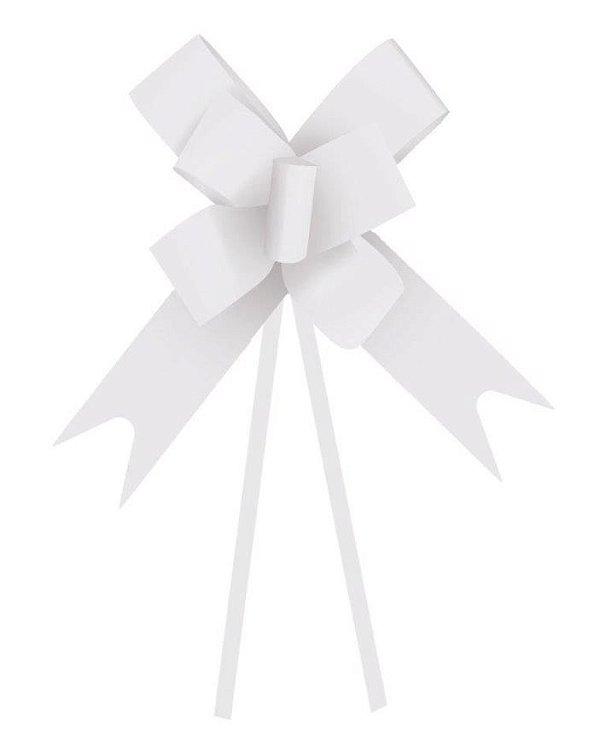 Laço Fácil Branco - 10 unidades - Cromus - Rizzo Embalagens