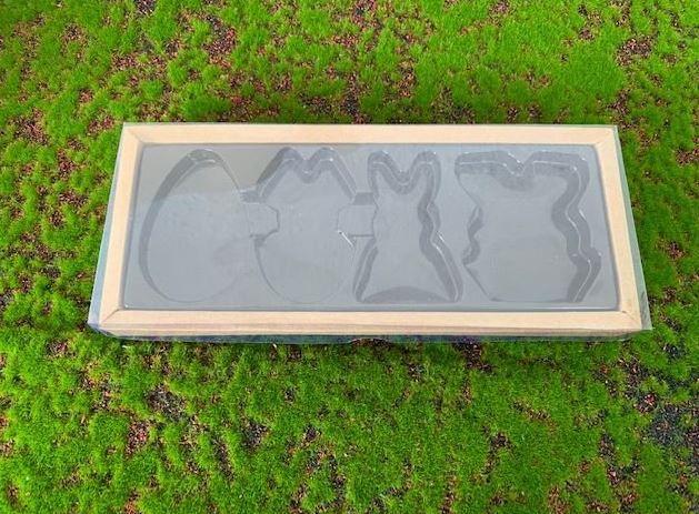 Caixa Páscoa Plano Kraft 4 cavidades - 05 unidades - Crystal - Rizzo Embalagens
