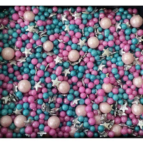 Sprinkles Lol 2 Rosa e Azul com Pérolas e Estrelas 60g - Morello - Rizzo Embalagens