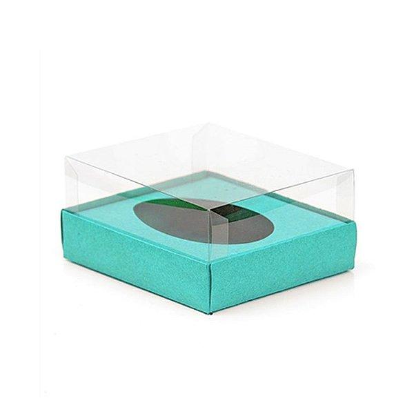Caixa Ovo de Colher - Meio Ovo de 100g a 150g - 11cm x 12,7cm x 7,5cm - Azul - 5unidades - Assk - Páscoa Rizzo Emb