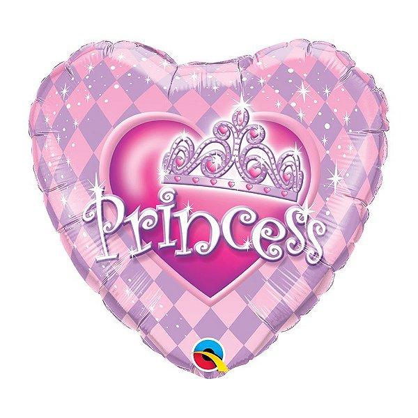 """Balão de Festa 18"""" Redondo - Tiara de Princesa - 01 Unidade - Qualatex - Rizzo Balões"""