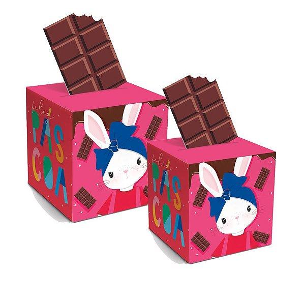 Caixa Pop Up Brilho de Páscoa Rosa - 10 unidades - Cromus Páscoa - Rizzo Embalagens