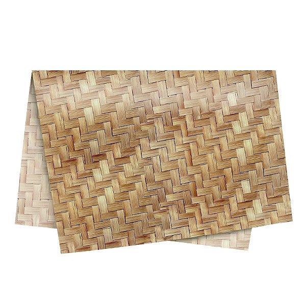 Papel de Seda - 49x69cm - Textura Palha - 10 folhas - Rizzo Embalagens