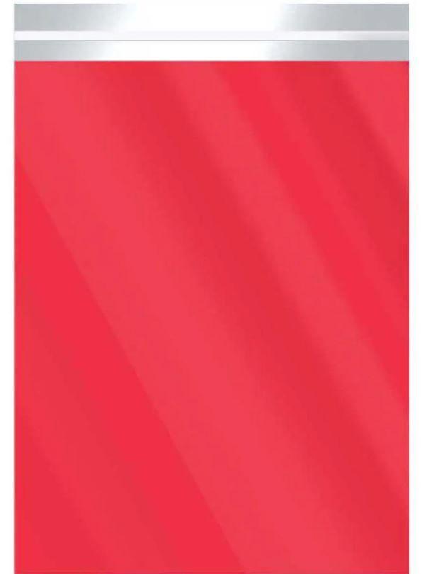 Saco Metalizado com Aba Adesiva Vermelho 10x13,5cm - 50 unidades - Cromus - Rizzo Embalagens