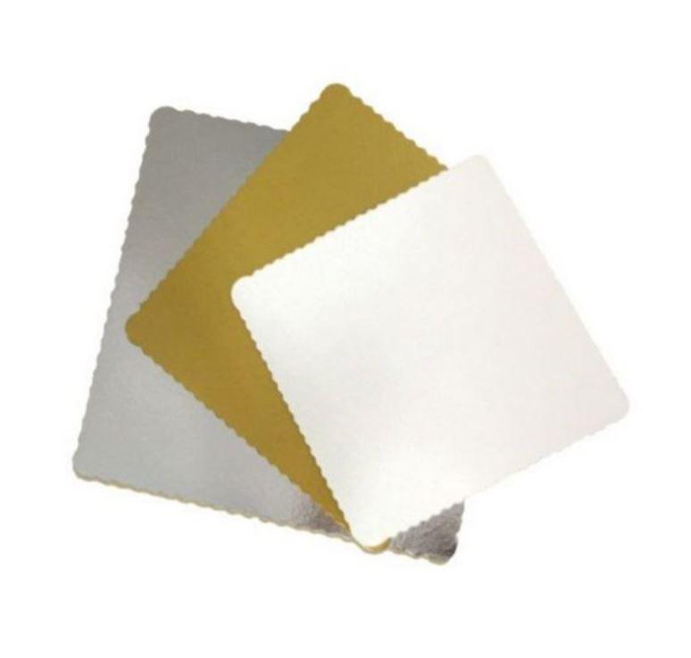 Base para Bolo Cake Board Quadrado 24 cm - 01 unidade - Ultrafest - Rizzo Embalagens