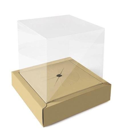 Caixa Ovo em Pé Moldura 250g Ouro - 01 unidade - Cromus Páscoa - Rizzo Embalagens