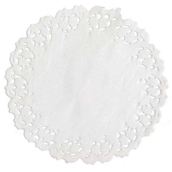Toalhas Rendadas de Papel Mod. 110 Branca - Mago - Rizzo Embalagens