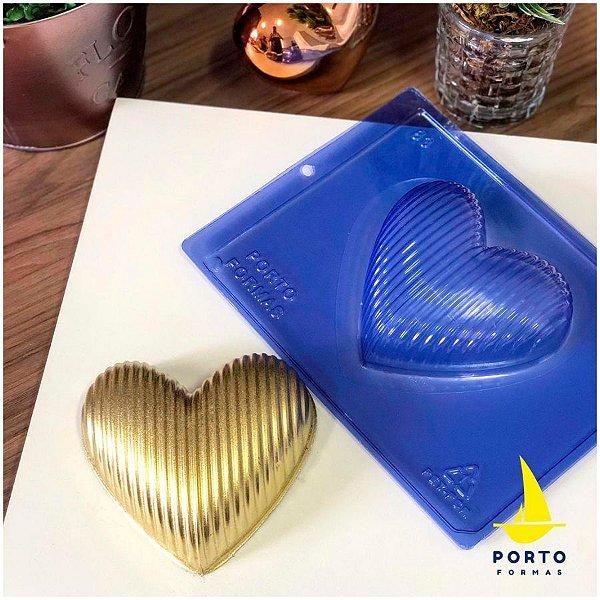 Forma de Acetato Coração Listrinha Ref 83 - Porto Formas - Rizzo Embalagens