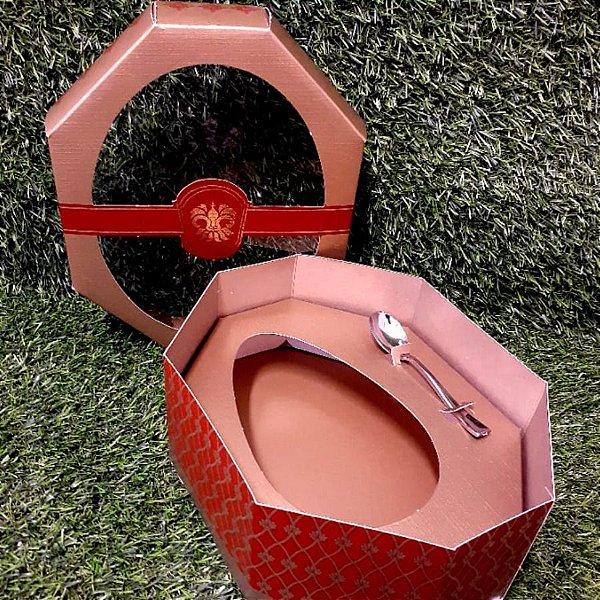 Caixa Ovo de Colher 350g - Classic Ouro Marrom - 01 unidade - Ideia Embalagens - Rizzo Embalagens